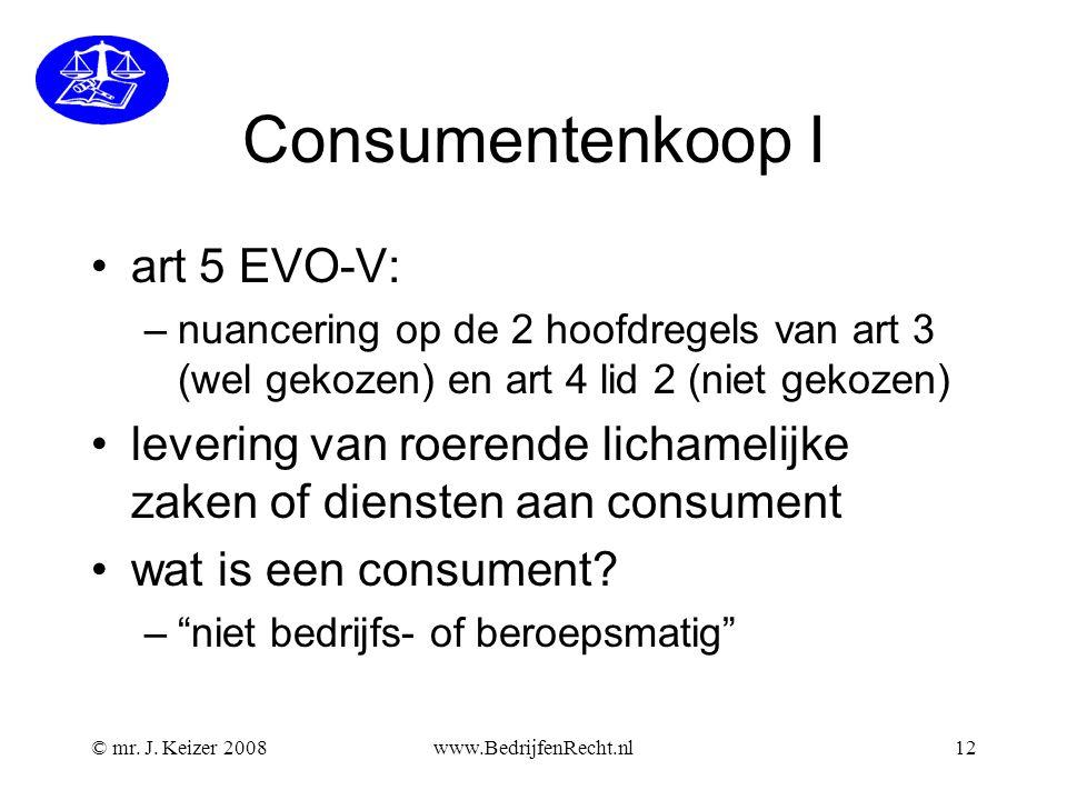 Consumentenkoop I art 5 EVO-V: