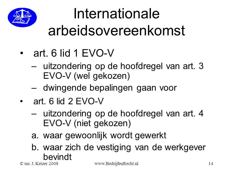 Internationale arbeidsovereenkomst