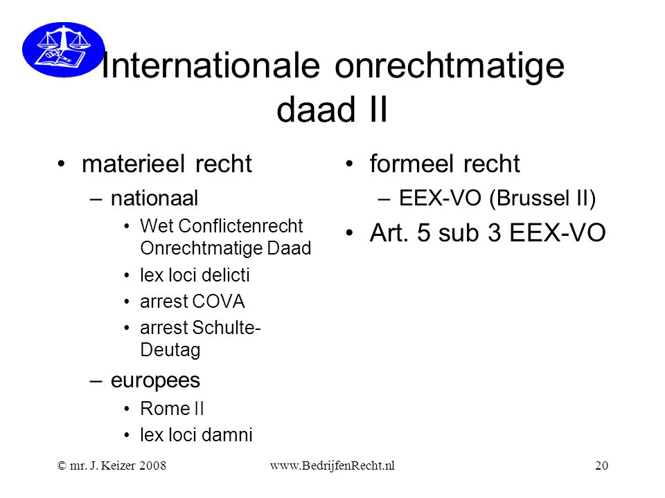 Internationale onrechtmatige daad II