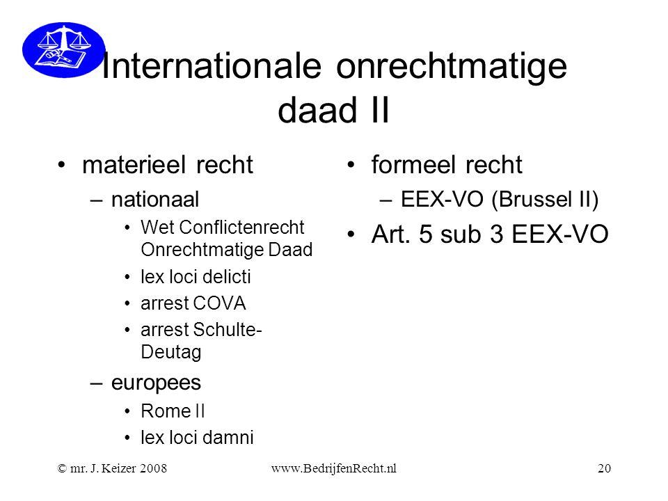 Internationale onrechtmatige daad II