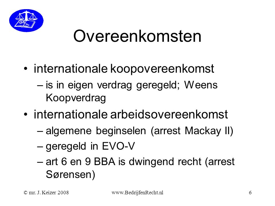 Overeenkomsten internationale koopovereenkomst