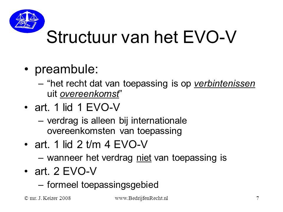 Structuur van het EVO-V