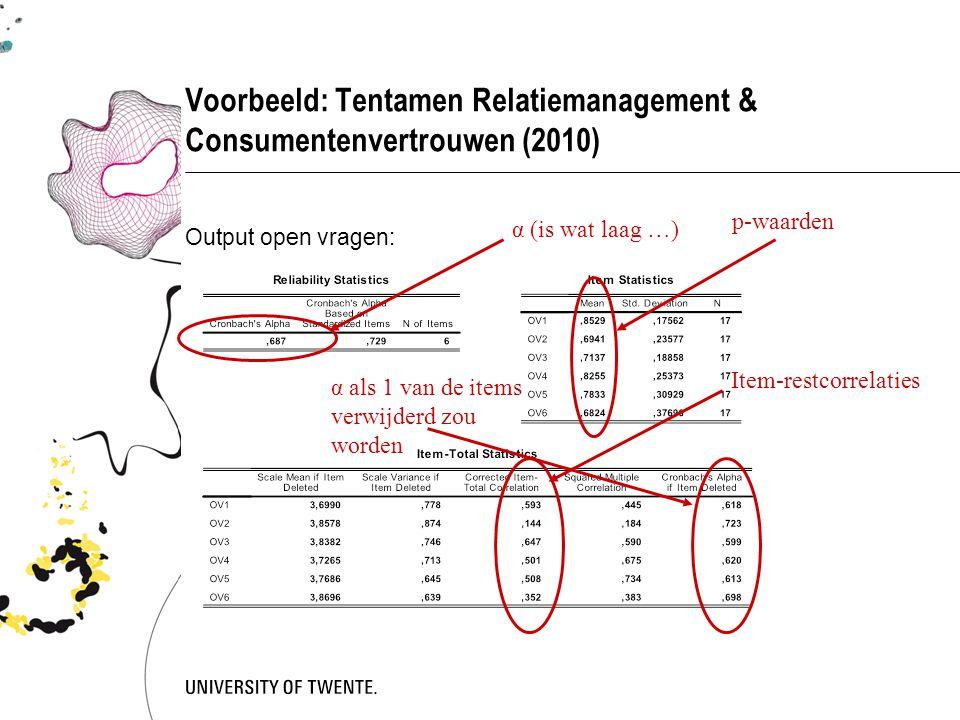 Voorbeeld: Tentamen Relatiemanagement & Consumentenvertrouwen (2010)