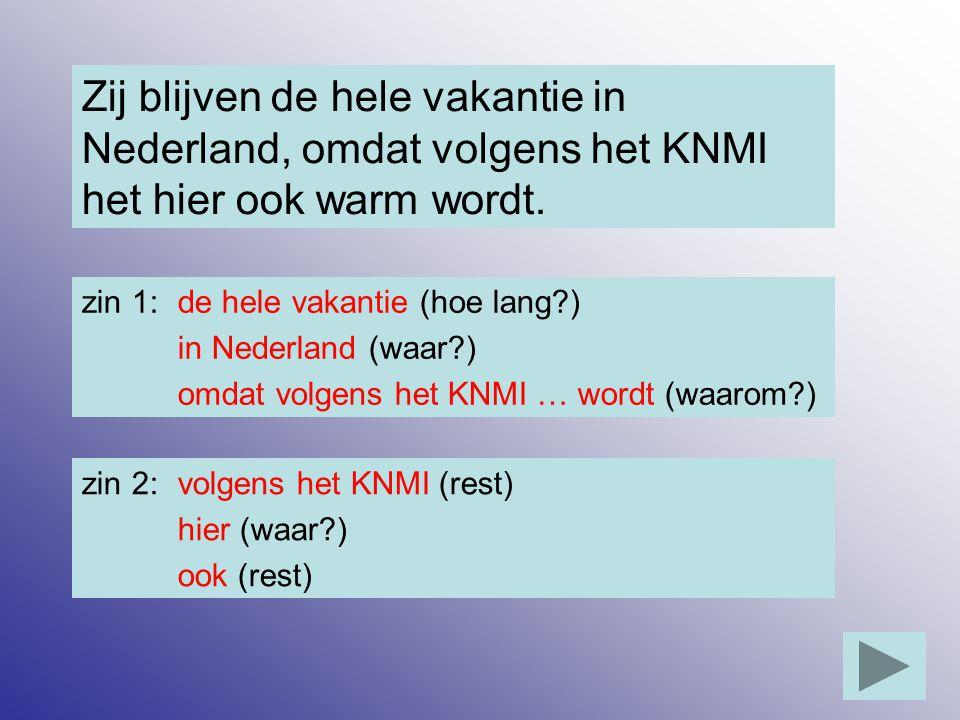 Zij blijven de hele vakantie in Nederland, omdat volgens het KNMI het hier ook warm wordt.