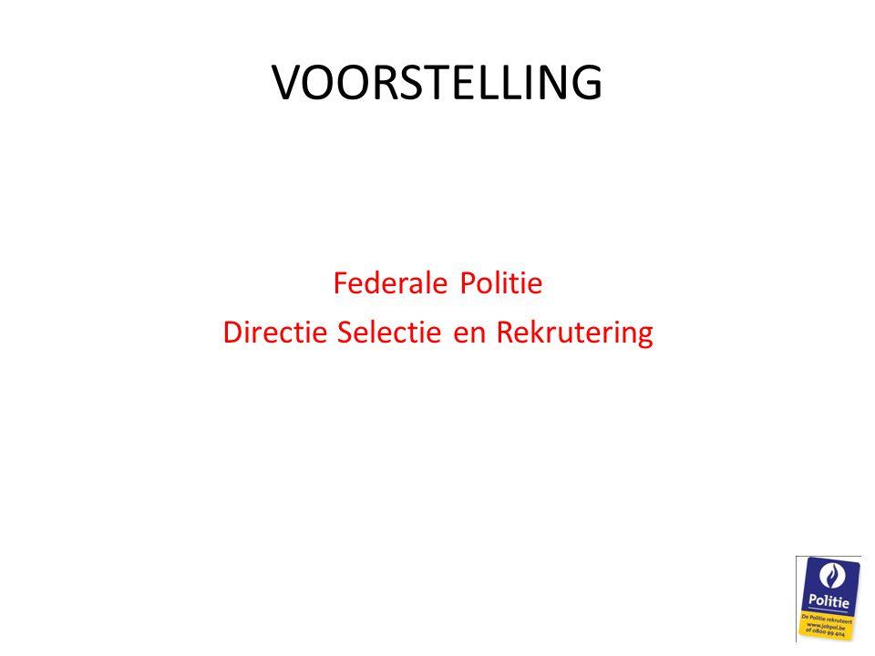 Federale Politie Directie Selectie en Rekrutering