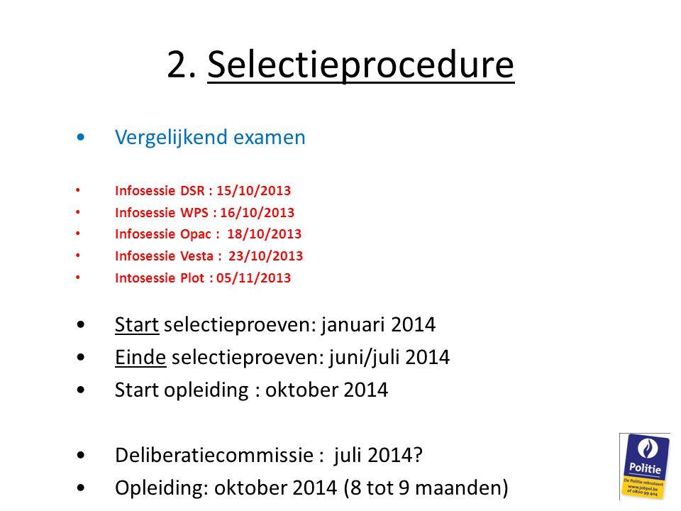 2. Selectieprocedure Vergelijkend examen