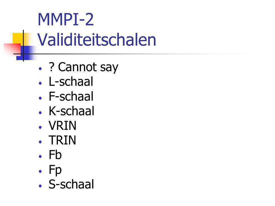 MMPI-2 Validiteitschalen