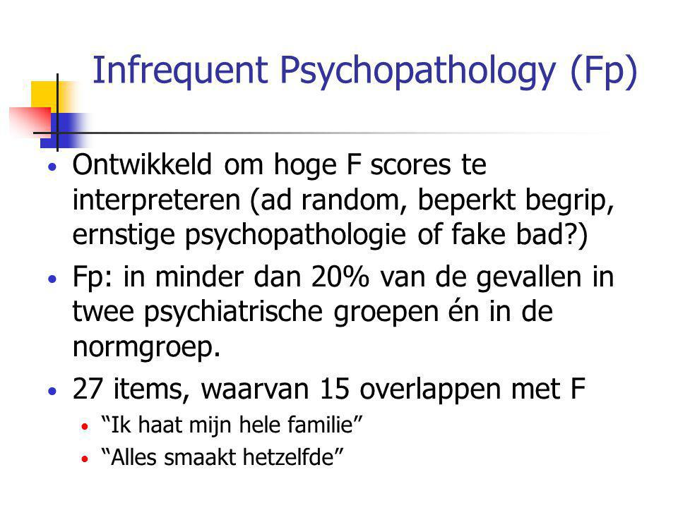 Infrequent Psychopathology (Fp)