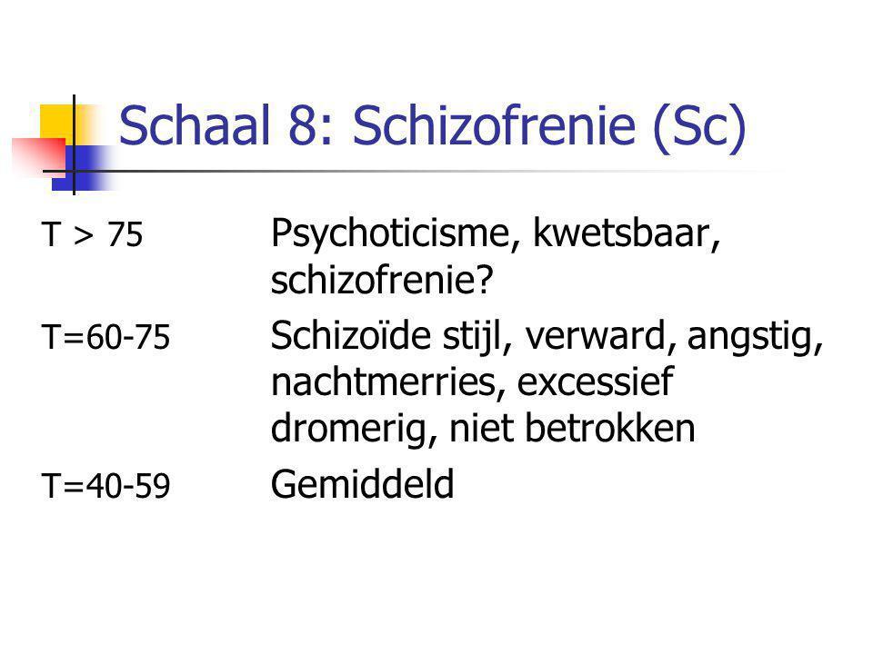 Schaal 8: Schizofrenie (Sc)
