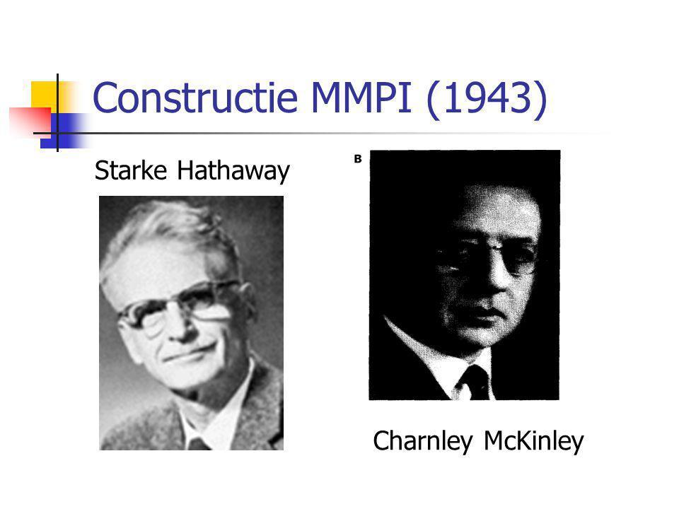 Constructie MMPI (1943) Starke Hathaway Charnley McKinley
