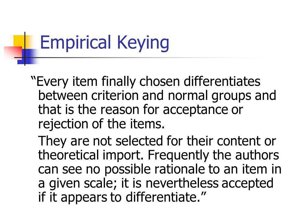 Empirical Keying