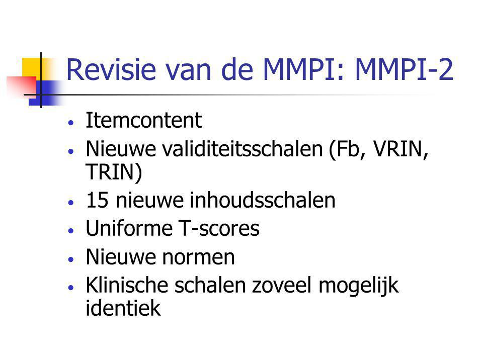 Revisie van de MMPI: MMPI-2