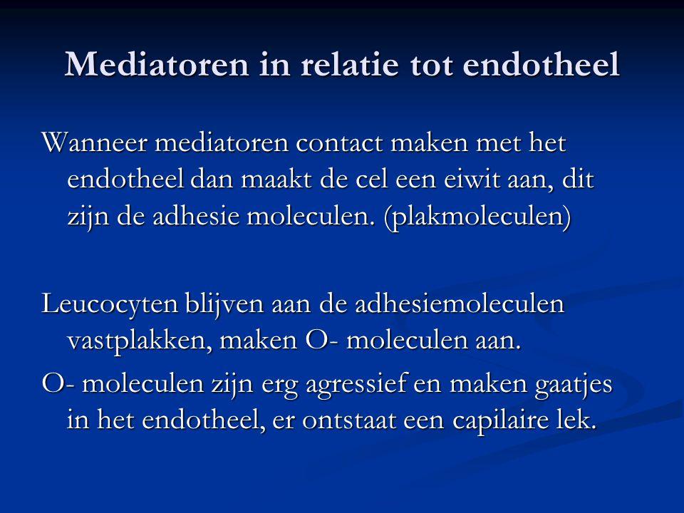 Mediatoren in relatie tot endotheel