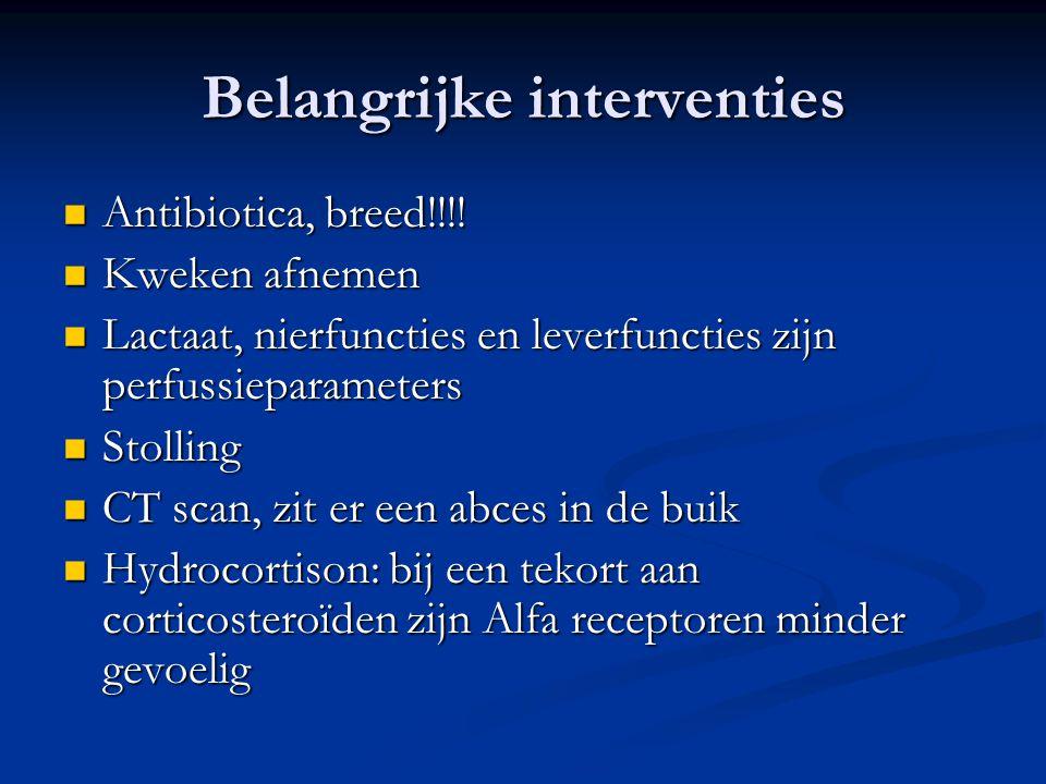 Belangrijke interventies