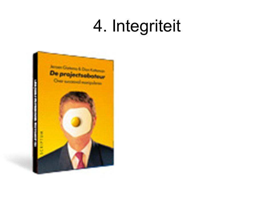 4. Integriteit Organisatiebelang en/of eigenbelang
