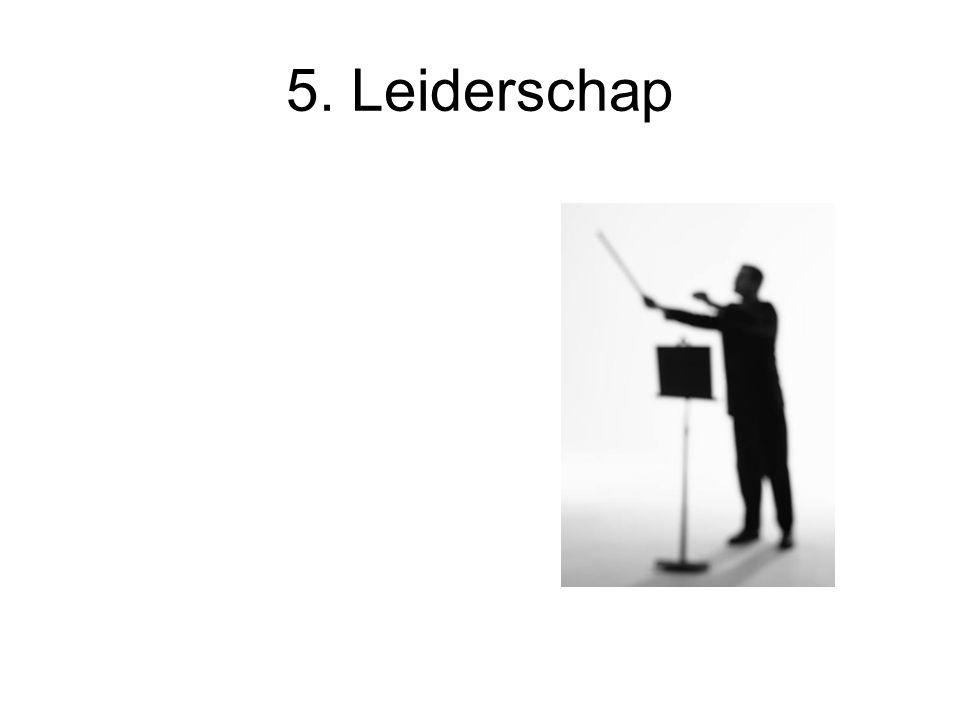 5. Leiderschap Kaders zetten of kaders handhaven