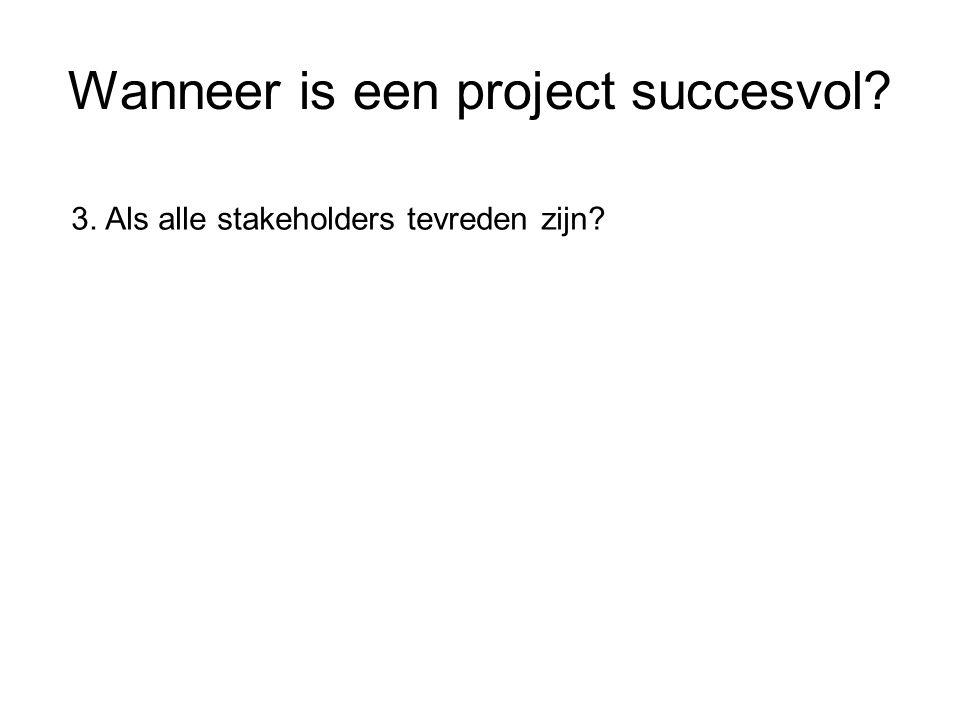 Wanneer is een project succesvol