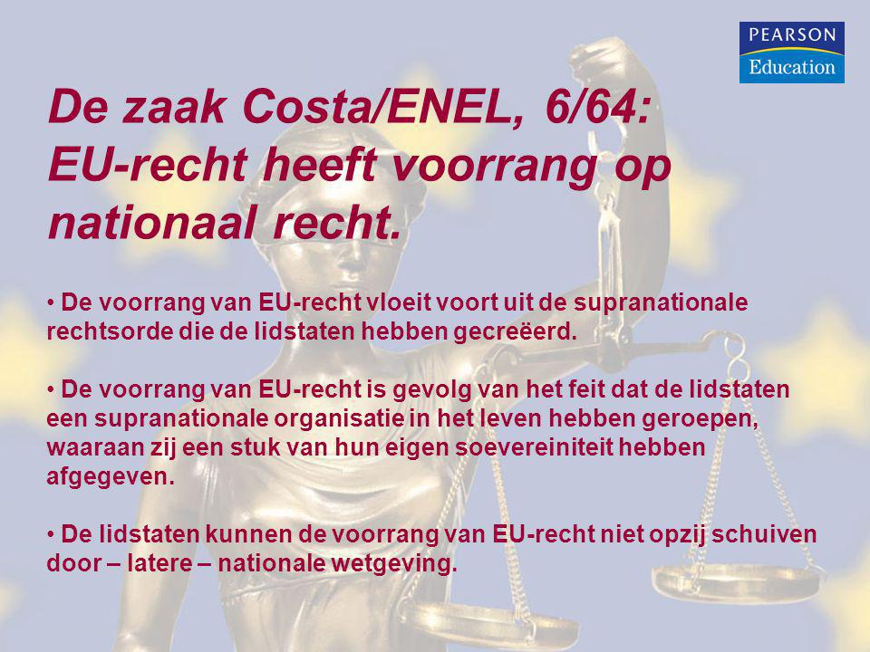 EU-recht heeft voorrang op nationaal recht.