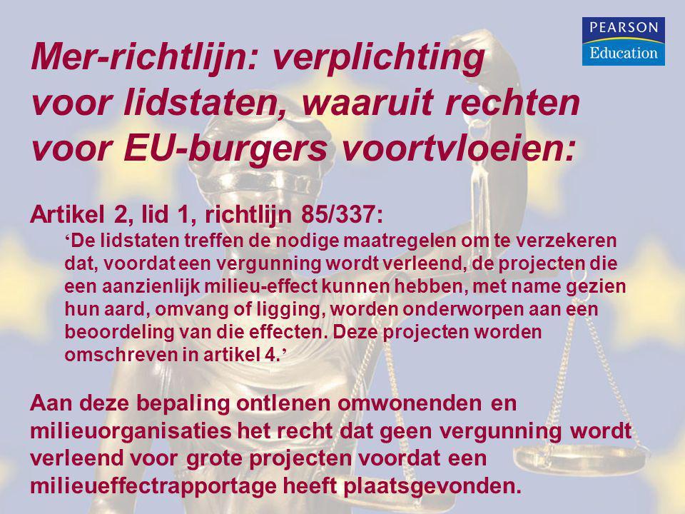 Mer-richtlijn: verplichting