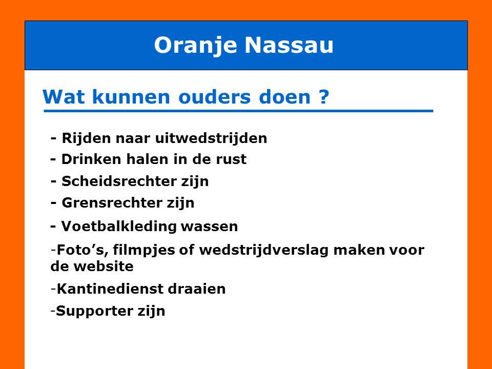 Oranje Nassau Wat kunnen ouders doen - Rijden naar uitwedstrijden