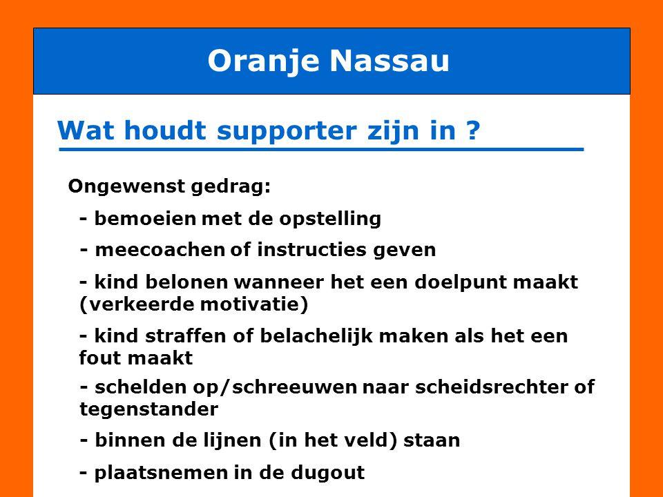 Oranje Nassau Wat houdt supporter zijn in Ongewenst gedrag: