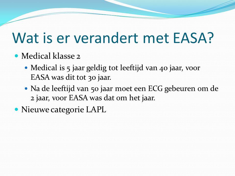 Wat is er verandert met EASA