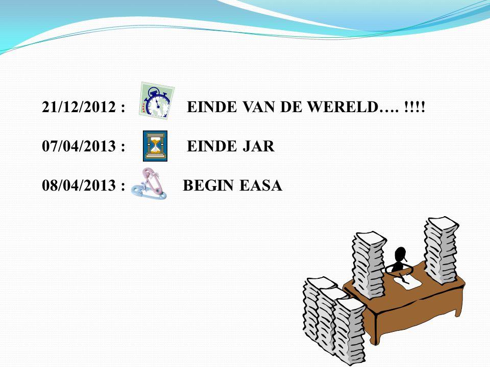 21/12/2012 : EINDE VAN DE WERELD…. !!!!