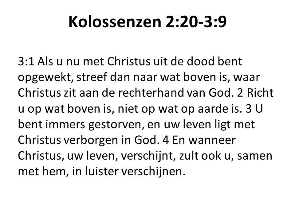 Kolossenzen 2:20-3:9