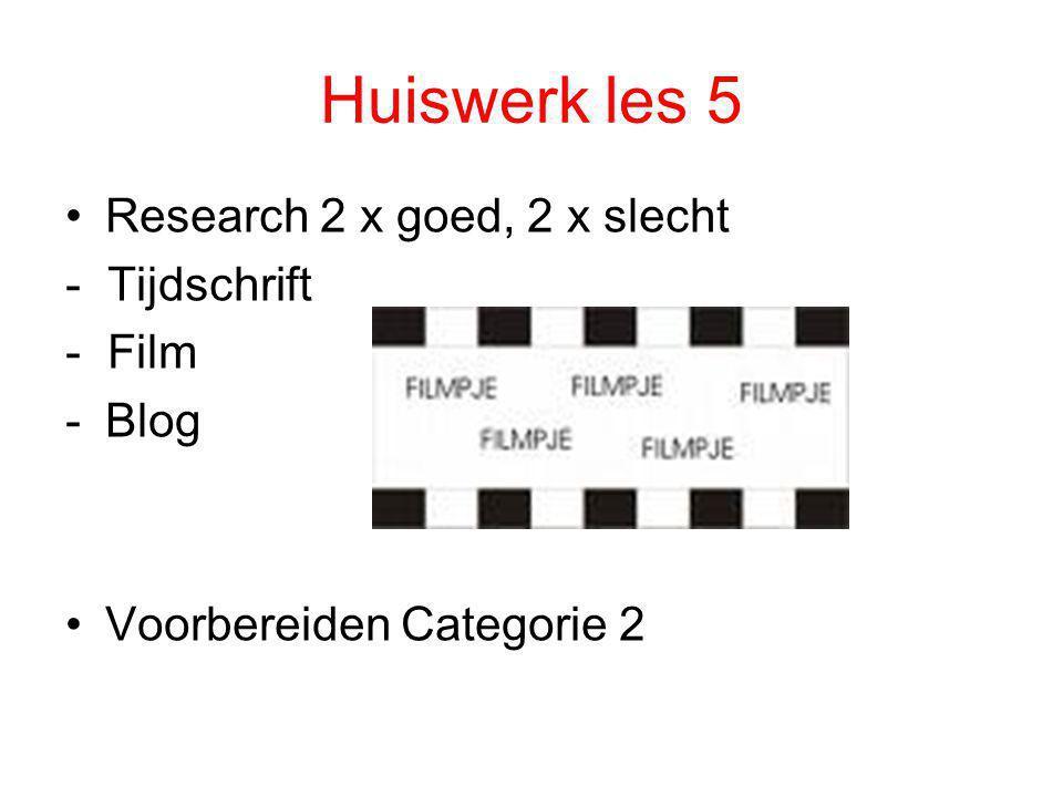 Huiswerk les 5 Research 2 x goed, 2 x slecht - Tijdschrift - Film Blog