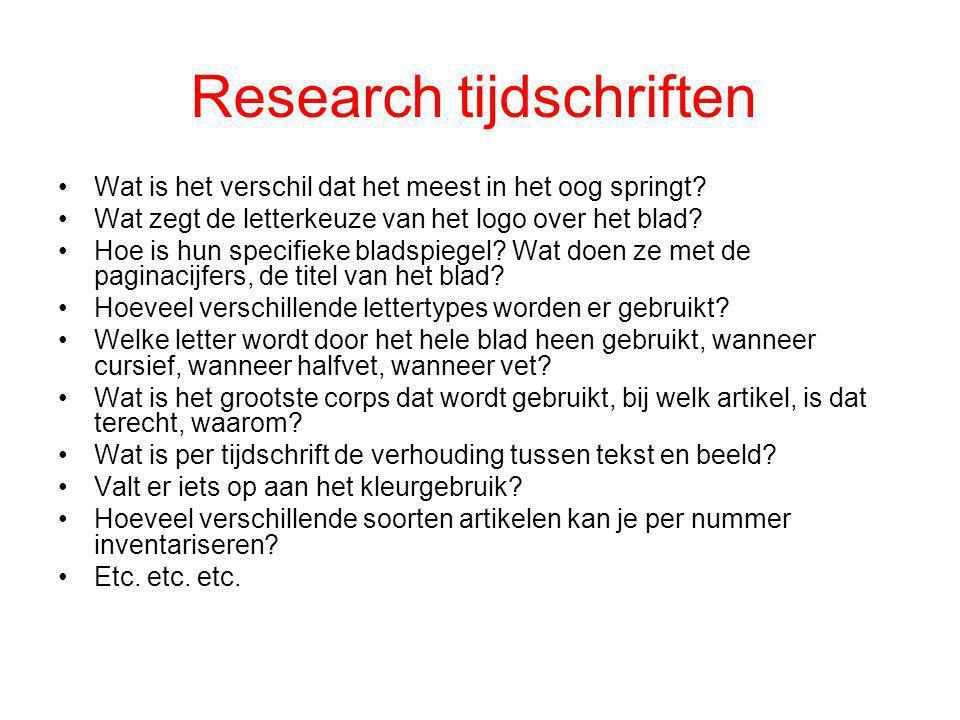 Research tijdschriften