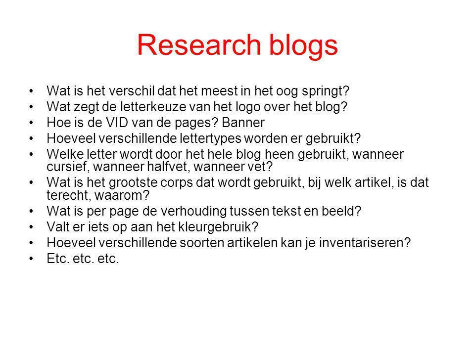 Research blogs Wat is het verschil dat het meest in het oog springt