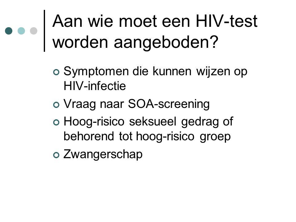 Aan wie moet een HIV-test worden aangeboden