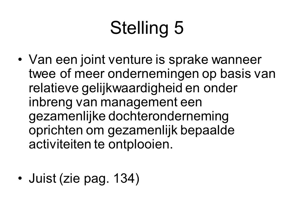 Stelling 5