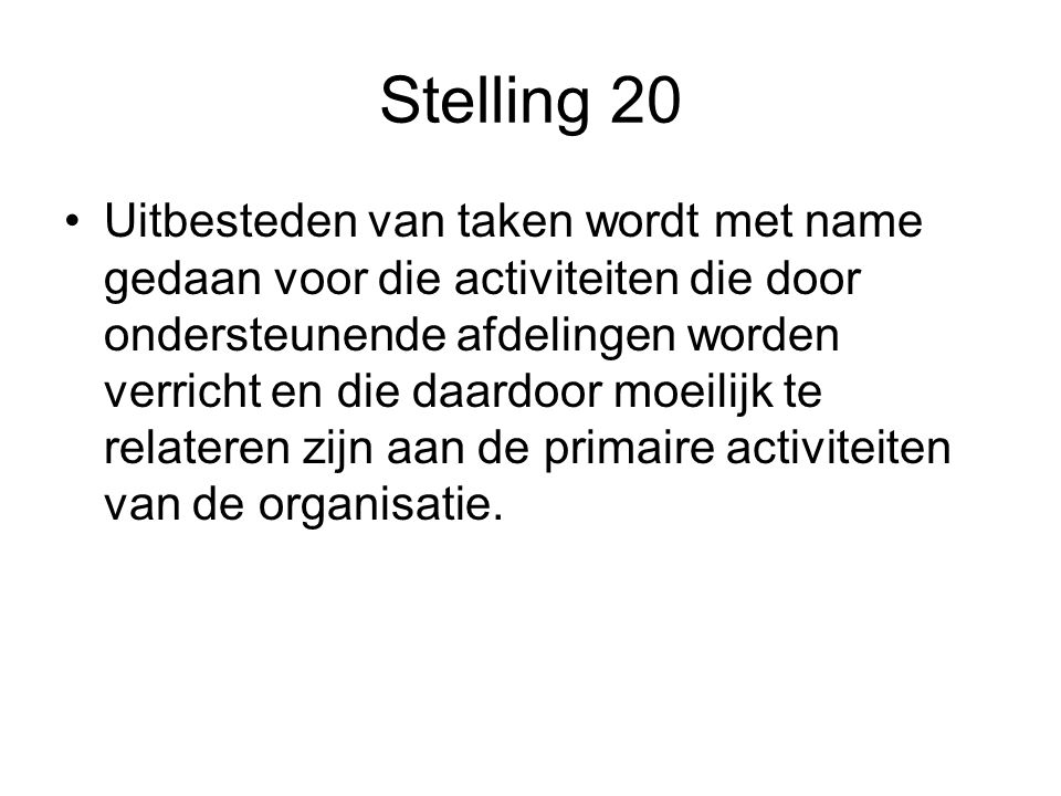 Stelling 20