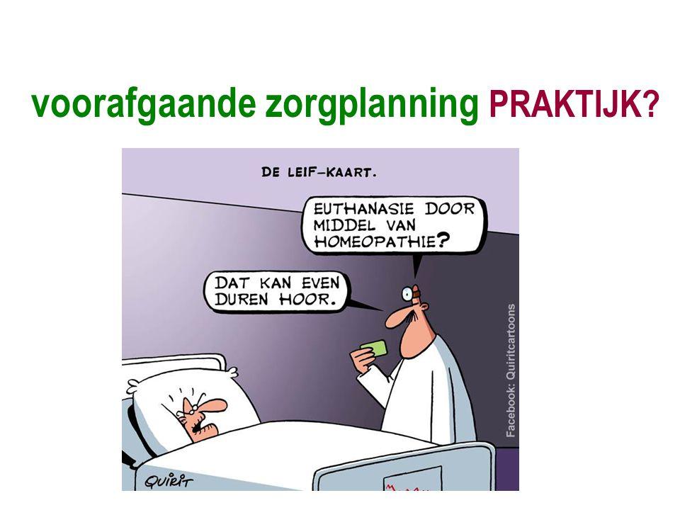 voorafgaande zorgplanning PRAKTIJK