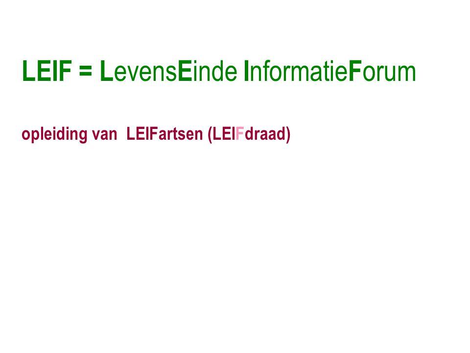 LEIF = LevensEinde InformatieForum