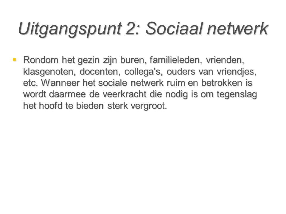 Uitgangspunt 2: Sociaal netwerk