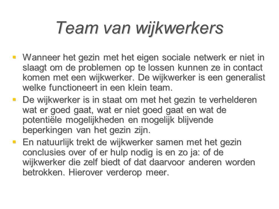 Team van wijkwerkers