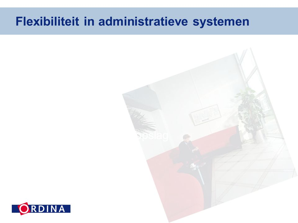 Flexibiliteit in administratieve systemen