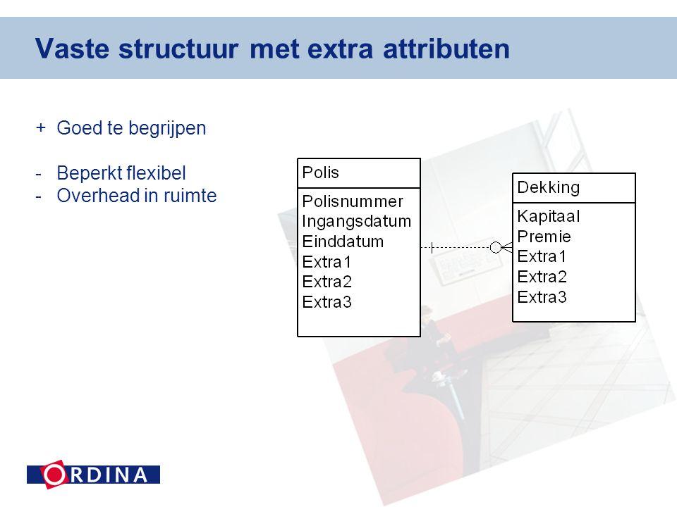 Vaste structuur met extra attributen