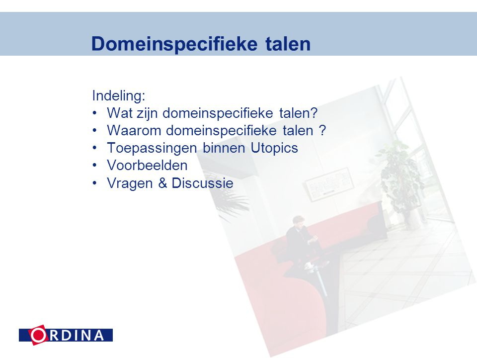 Domeinspecifieke talen