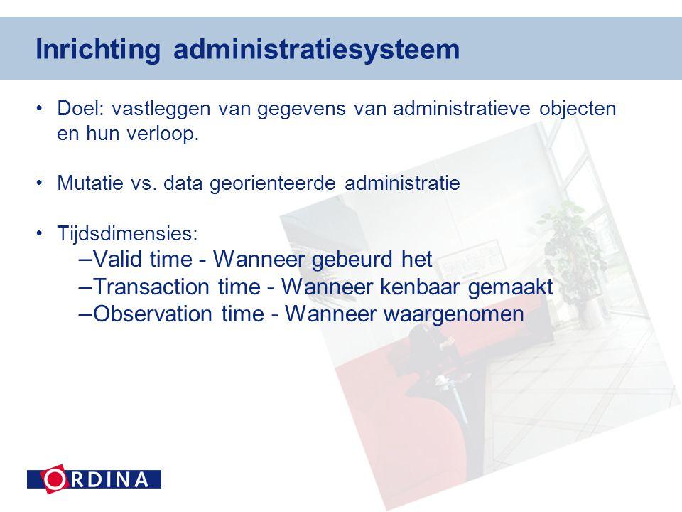 Inrichting administratiesysteem