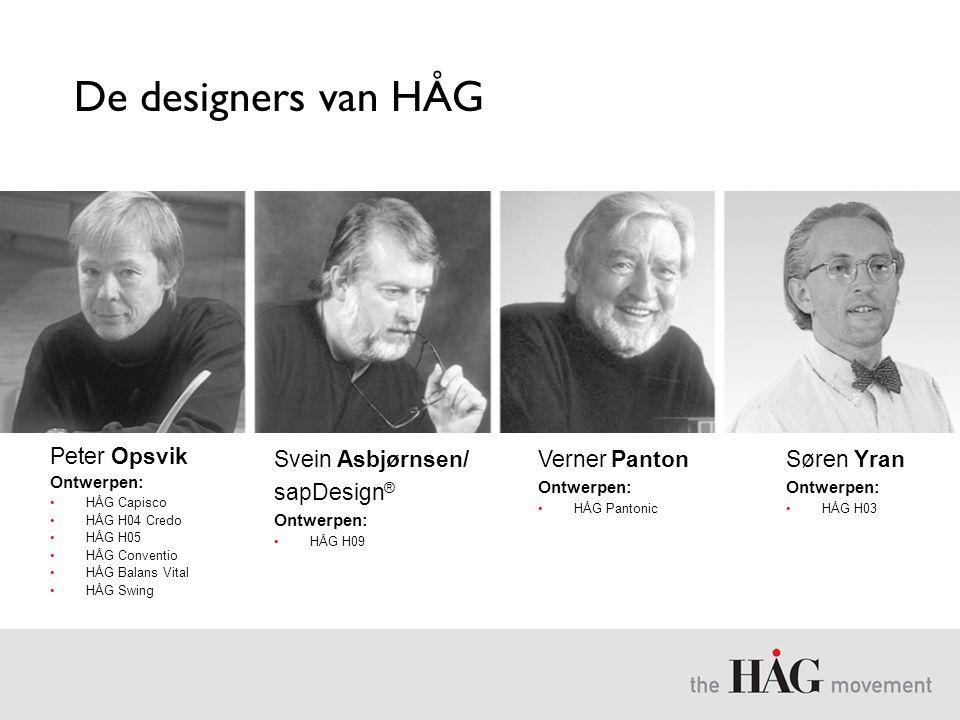 De designers van HÅG Peter Opsvik Svein Asbjørnsen/ sapDesign®