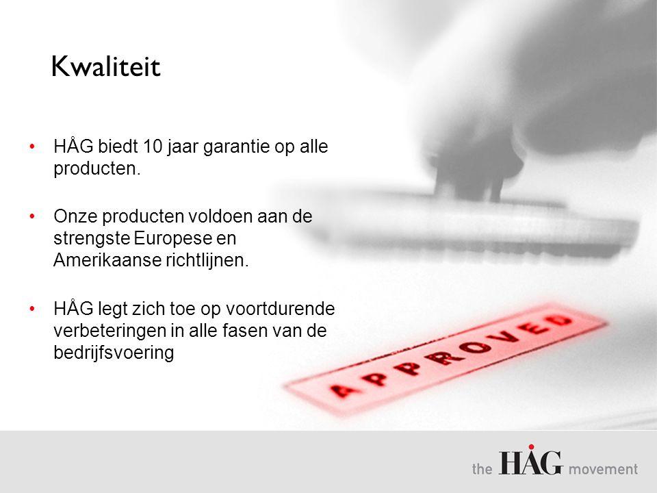 Kwaliteit HÅG biedt 10 jaar garantie op alle producten.
