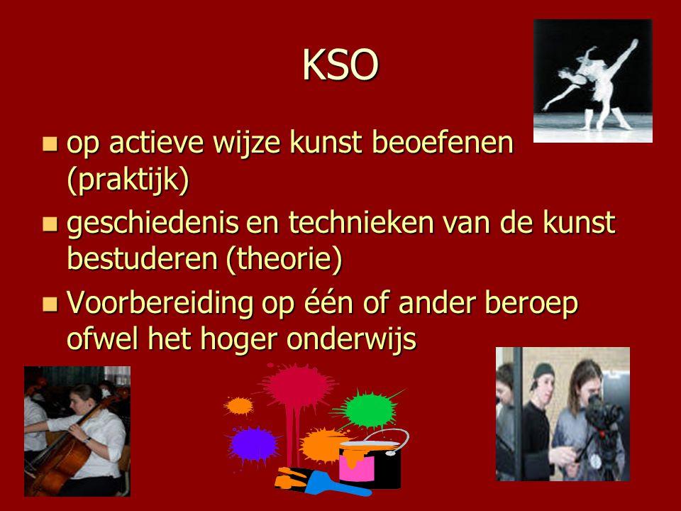 KSO op actieve wijze kunst beoefenen (praktijk)