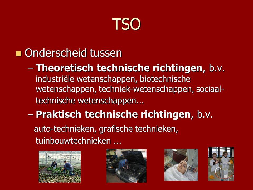 TSO Onderscheid tussen