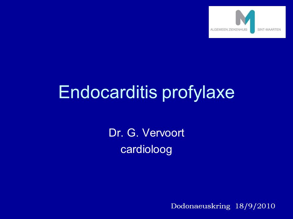 Endocarditis profylaxe