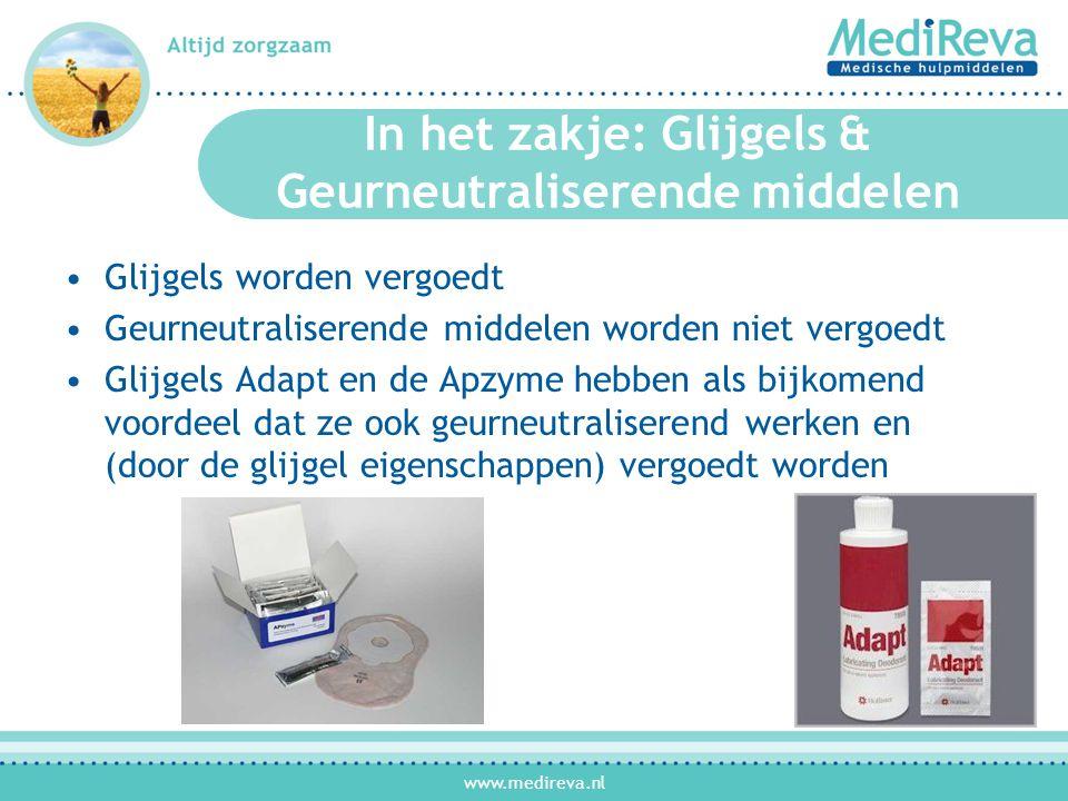 In het zakje: Glijgels & Geurneutraliserende middelen