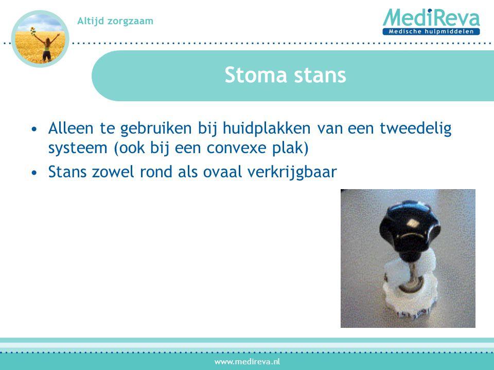 Stoma stans Alleen te gebruiken bij huidplakken van een tweedelig systeem (ook bij een convexe plak)