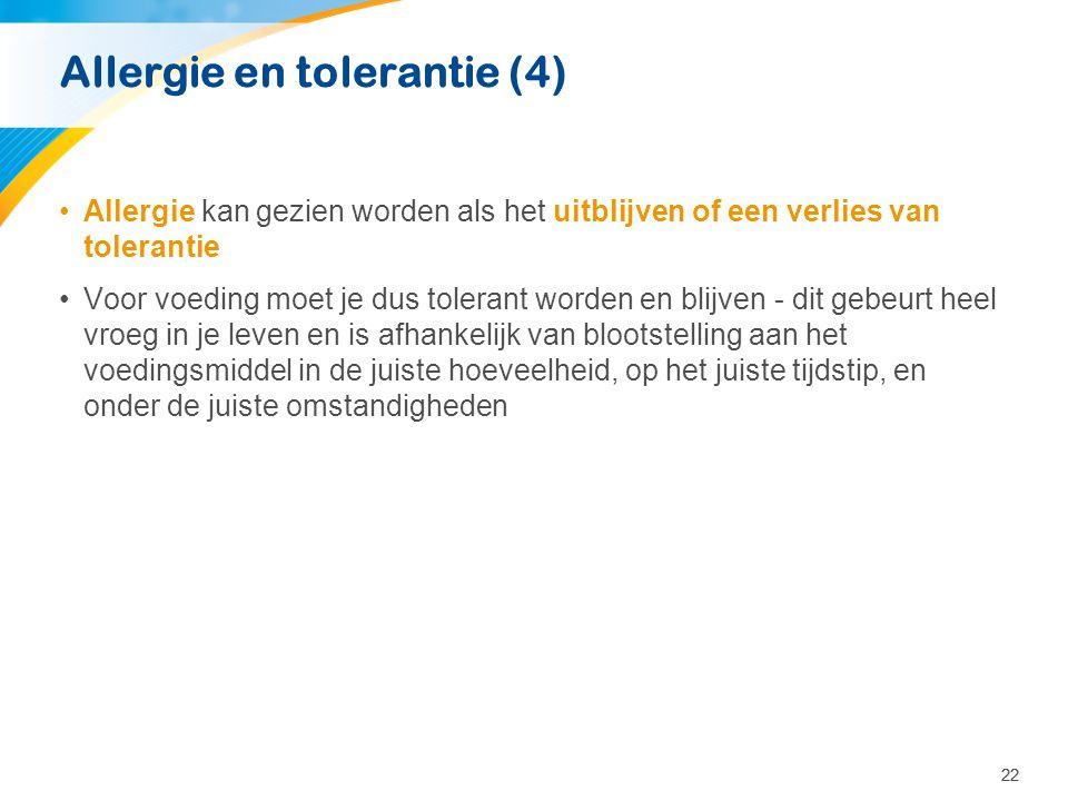 Allergie en tolerantie (4)